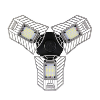 60 w Ha Condotto La Lampada Deformabile Garage Luce E27 Lampadina Del Cereale Del LED Radar di Illuminazione Domestica Ad Alta Intensità di Parcheggio Magazzino Lampada Industriale