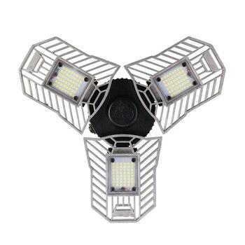 60W Ha Condotto La Lampada Deformabile Garage Luce E27 Lampadina Del Cereale Del LED Radar di Illuminazione Domestica Ad Alta Intensità di Parcheggio Magazzino Lampada Industriale