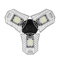 60W LED lampe déformable lumière de Garage E27 LED ampoule de maïs Radar éclairage à la maison haute intensité Parking entrepôt lampe industrielle