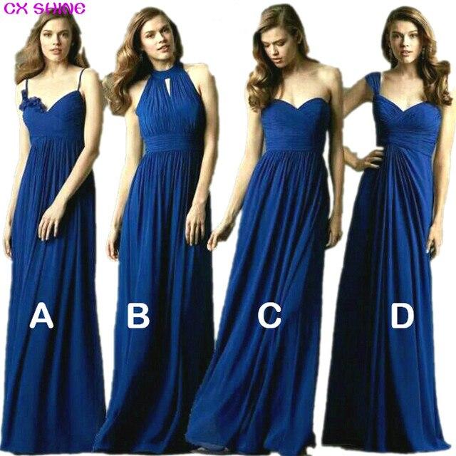 CX BRILHAR Nova cor Personalizada & Tamanho! doce 4 estilo longo Da Dama de honra Vestidos de cores do vestido de casamento, Prom party dress mulheres Plus Size