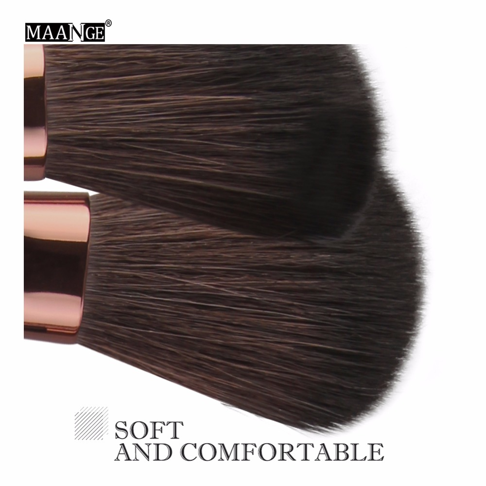 MAANGE 6 to 18Pcs Makeup Brush Kit for Eye Makeup and Lip Makeup including Blending of Foundation and Blush 3