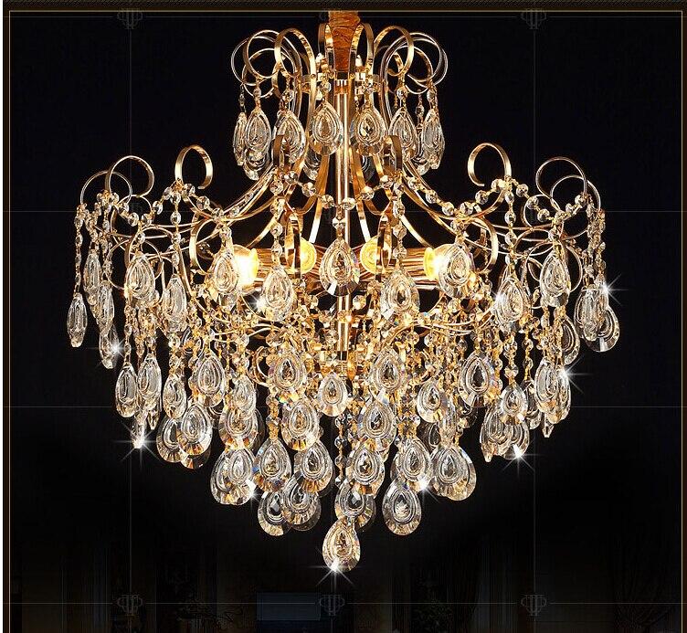 Popular Golden Chandelier-Buy Cheap Golden Chandelier lots from ...:Free Shipping AC100-240V Romantic Golden chandelier Pendant Lamp Pendant K9  Golden Crystal Penadnt Lamp,Lighting