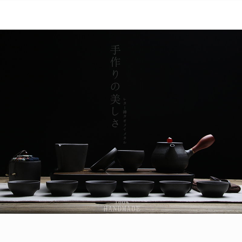TANGPIN black crockery japanese ceramic teapot kettle tea cup for puer tea pot set japanese tea set porcelain 3