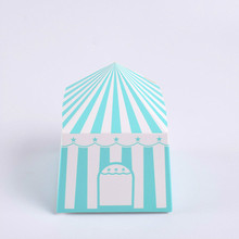 100 Pcs Paper gift box for wedding Party kid Birthday Creativity Yurt shape chocolate candy Box Gift Packaging Cardboard