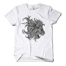 купить Graphic Lion Printed T-Shirt Hipster Design Urban Fashion Mens Girls Tee Top New T Shirts Funny Tops Tee New free shipping онлайн