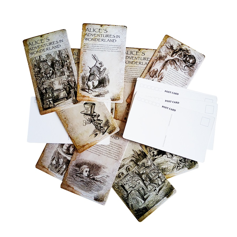 6packs/lot Vintage Story Postcards Alice's Adventures In Wonderland Postcard Greeting Invitation Gift Cards Wholesale