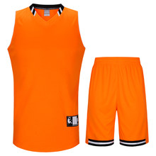 SANHENG Men's Basketball Jersey Competition Uniforms Suits Breathable Sports Clothes Sets Custom Basketball Jerseys Short 912158(China)