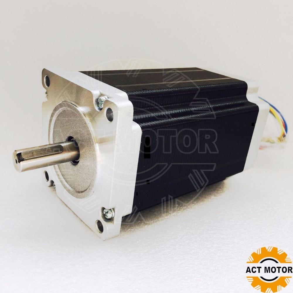 ACT MOTOR DE Free Ship! 1pcs Nema34 1704OZ(12N.m) stepper motor 6A 150mm key way shaft
