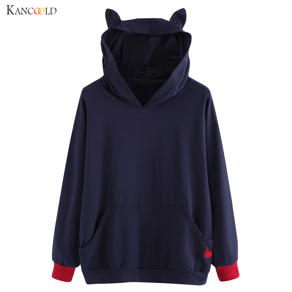 New Designer Women Hoodies Streetwear Fashion Cartoon Ears Sweatshirts Cat Ear Harajuku Tracksuits Female Sudaderas oc06