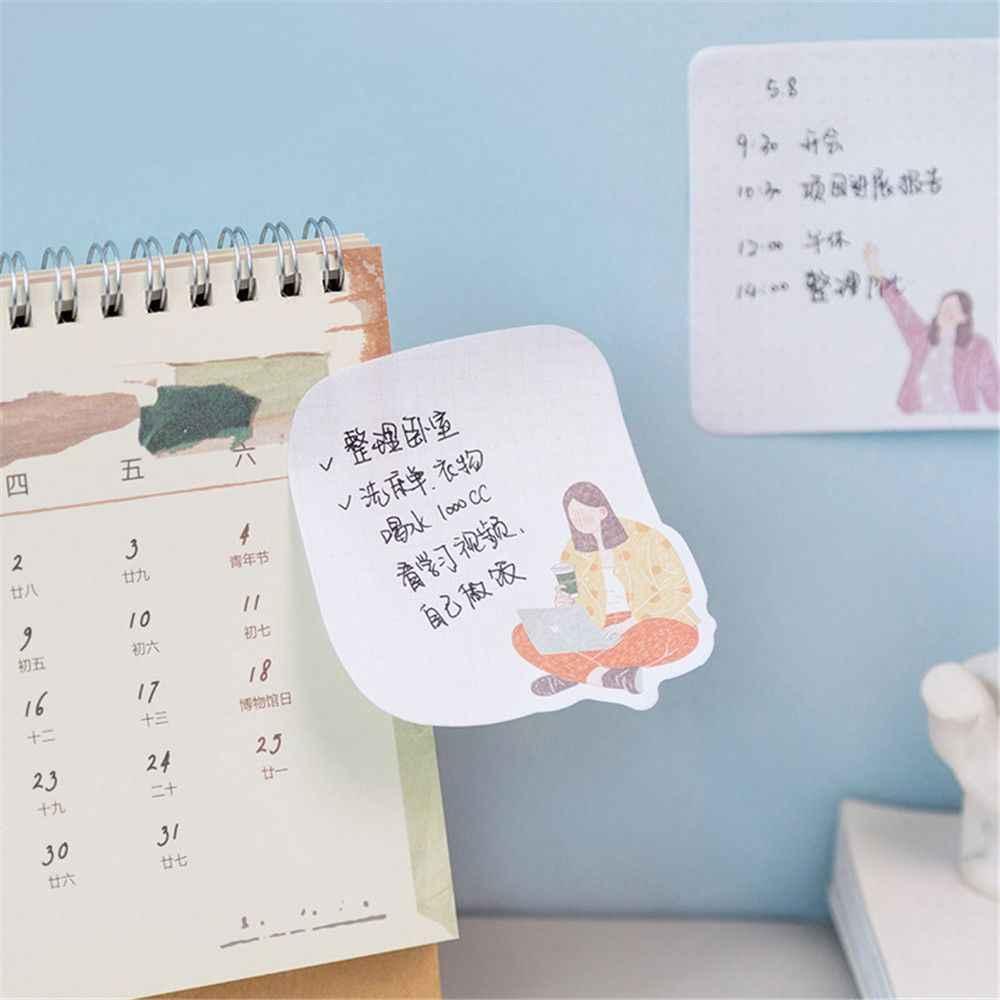 30 Vellen Mooie Dag Serie Memo Pad Bericht Card Kawaii Sticky Notes School Office Schrijven Pad Te Doen Lijst Studenten briefpapier