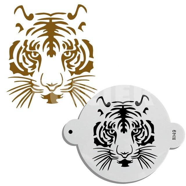 1PCS PET Tiger Shape Cake Stencil Kitchen Fondant Cake Decorating