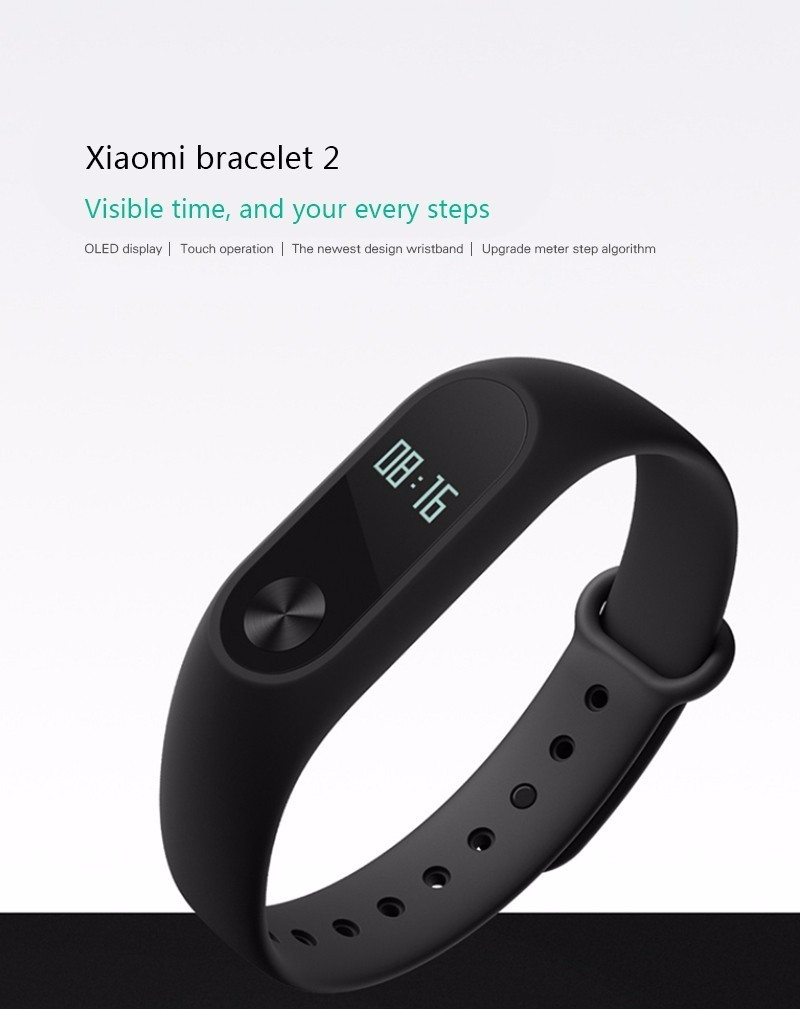 Original Xiao mi Mi Band 2 Support Heart Rate Monitor Bluetooth 4 0 Built in G