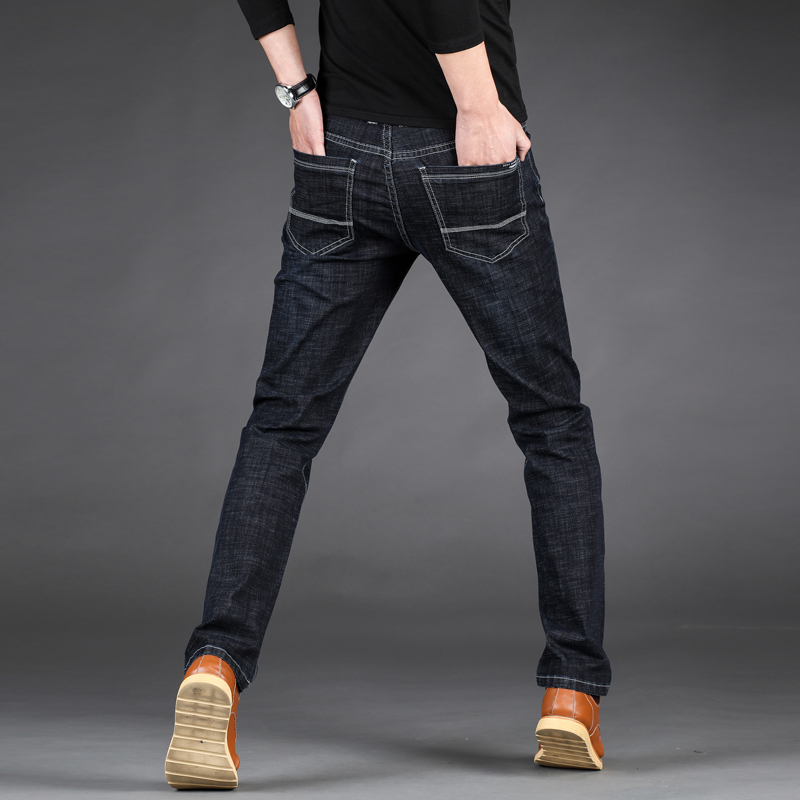 Plus Size 28-46 Mens Fashion Business Casual Stretch Straight Jeans 2018 High Quality Youth Successful People Casual Trousers