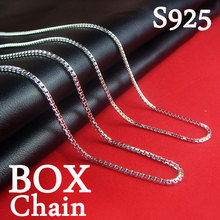 Hot! 2019 Box Chain Stainless Steel Silver Necklace for Men Women Curb 40 - 45cm Fashion Jewelry LZ1