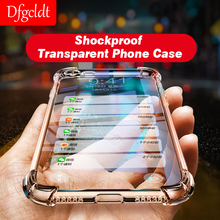 Luxury Shockproof Clear Soft Case for iPhone X 6 7 8 Plus Phone Cases Silicone Back Cover for iPhone 6s Plus 8 7 Plus TPU Shell все цены