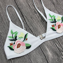 2018 New Floral embroidery Womens Bikini Set Sexy low waist women Swimsuit Bathing Suit women Swimwear Beachwear