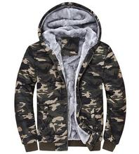 Hot!! 2016 New Arrival Winter Men Hoodies Tracksuits Hooded Men Male Warm Thick Sweatshirt Camouflage Hoodies Plus Thick Velvet