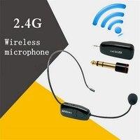 2.4G Kablosuz Mikrofon Konuşma Kulaklık Megafon Radyo Hoparlör Öğretim Toplantı Rehber Için Mikrofon Mic Ile 6.5mm Adaptörü L3EF