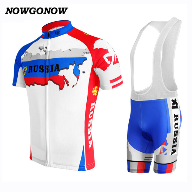 NEW summer cycling jersey classic Russian Federation Flag map pro team  Racing clothing bike wear hot road Wholesale NOWGONOW 460c0e47a