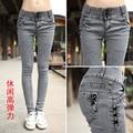 Новый 2014 весна женская одежда женская мода джинсы карандаш брюки женщины брюки скины жан 26 27 28 29 30 31 32 SL-49D4