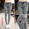 Novo 2014 roupas moda feminina denim jeans calças lápis das mulheres da primavera mulheres calças skiny jean 26 27 28 29 30 31 32 SL-49D4