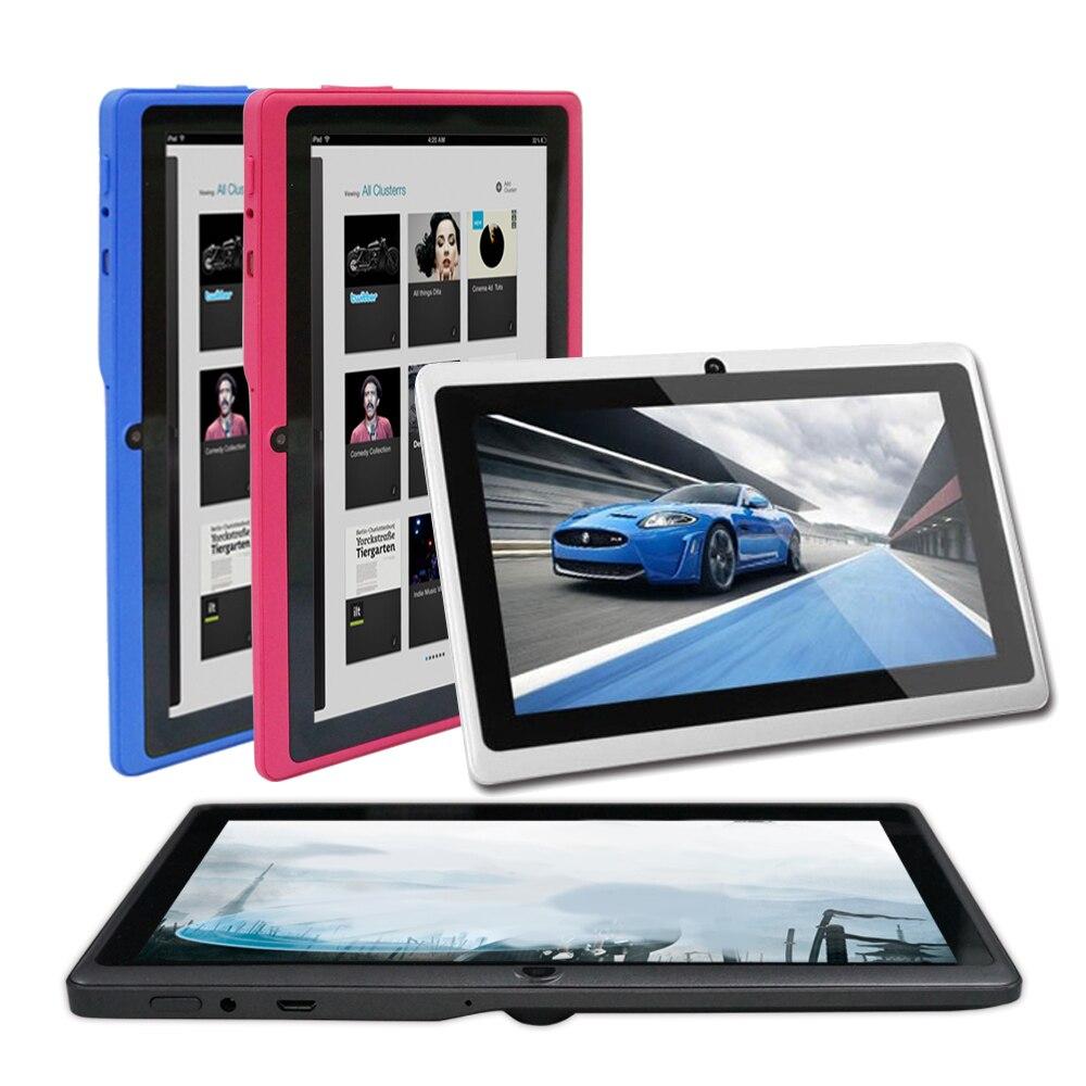 Vente chaude tablette 7 pouces tablette pc A33 Q88 android 4.4 512 mo ROM 8 GB Wifi caméra blanc noir bleu rose vert