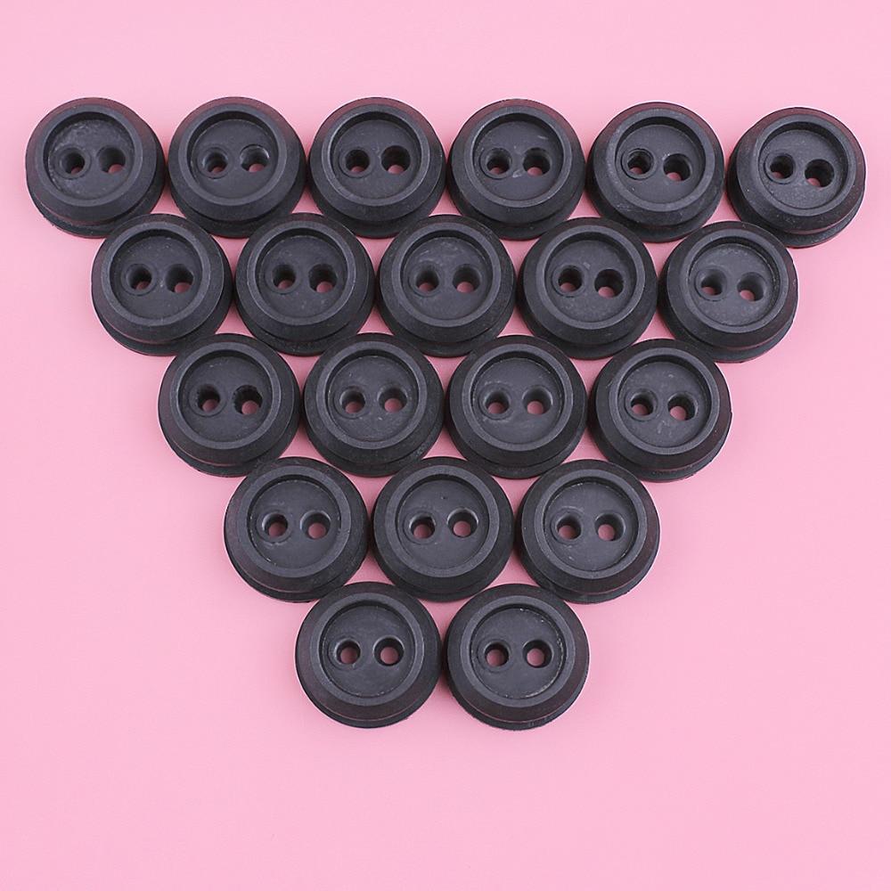 20pcs/lot 2 Hole Fuel Line Grommet For Homelite 560878001 560878002 Kawasaki 92071-2073 MTD 971-181767 Ryobi 181767 Trimmer Part