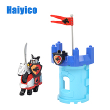 Warfare Rome Knight Armor Weapon Horse Soldier Shield Brick Set Compatible with Duplo Building Blocks Accessory Toys