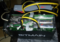 Bitcon Miner Antminer S5 Antminer S3 dedicated stud link 6P power cord. 50CM + 20CM support large current