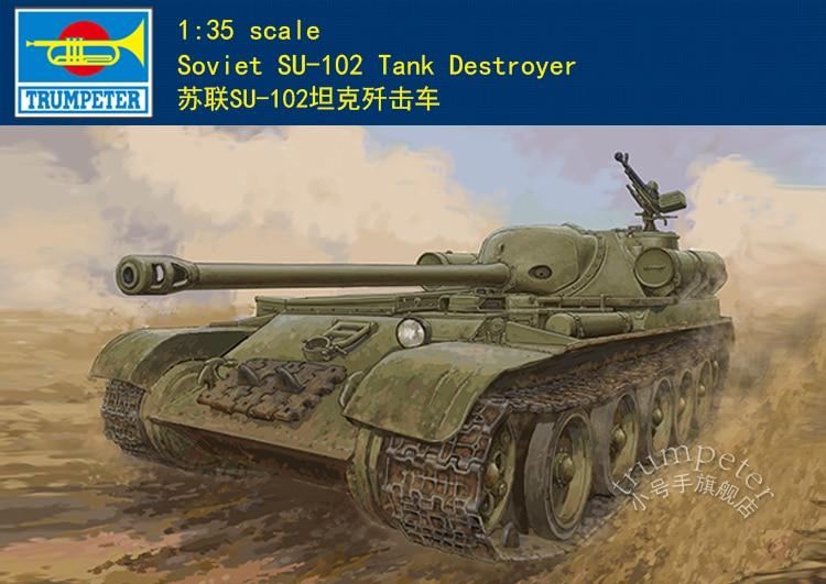 Trumpeter 09570 1/35 โซเวียต SU 102 Tank Destroyer ทหารรุ่นชุด-ใน ชุดการสร้างโมเดล จาก ของเล่นและงานอดิเรก บน AliExpress - 11.11_สิบเอ็ด สิบเอ็ดวันคนโสด 1