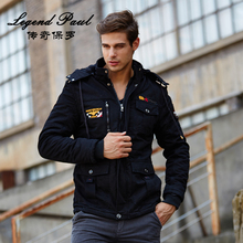 100% Cotton Mens Jackets Multi Pocket Regular Fit Fashion Young Men Jeans Cold Mens Garments