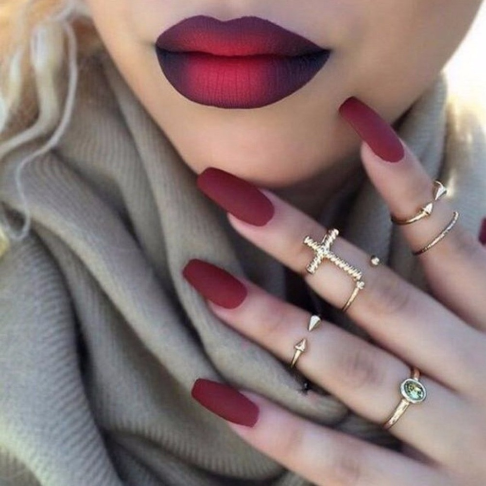 nails and lipstick tumblr - 800×800