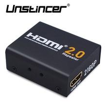 Unstincer 60 м HDMI Extender HDMI 2.0 Splitter ретранслятор сигнала Усилители домашние Booster адаптер 1080P @ 60 Гц HDCP 2.2 EDID пропускную способность до