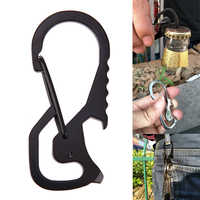 Outdoor Tools Carabiner Cap Lifter Hex Driver Bottle Opener Keychain Ring Climbing Accessories,EDC Card Tool