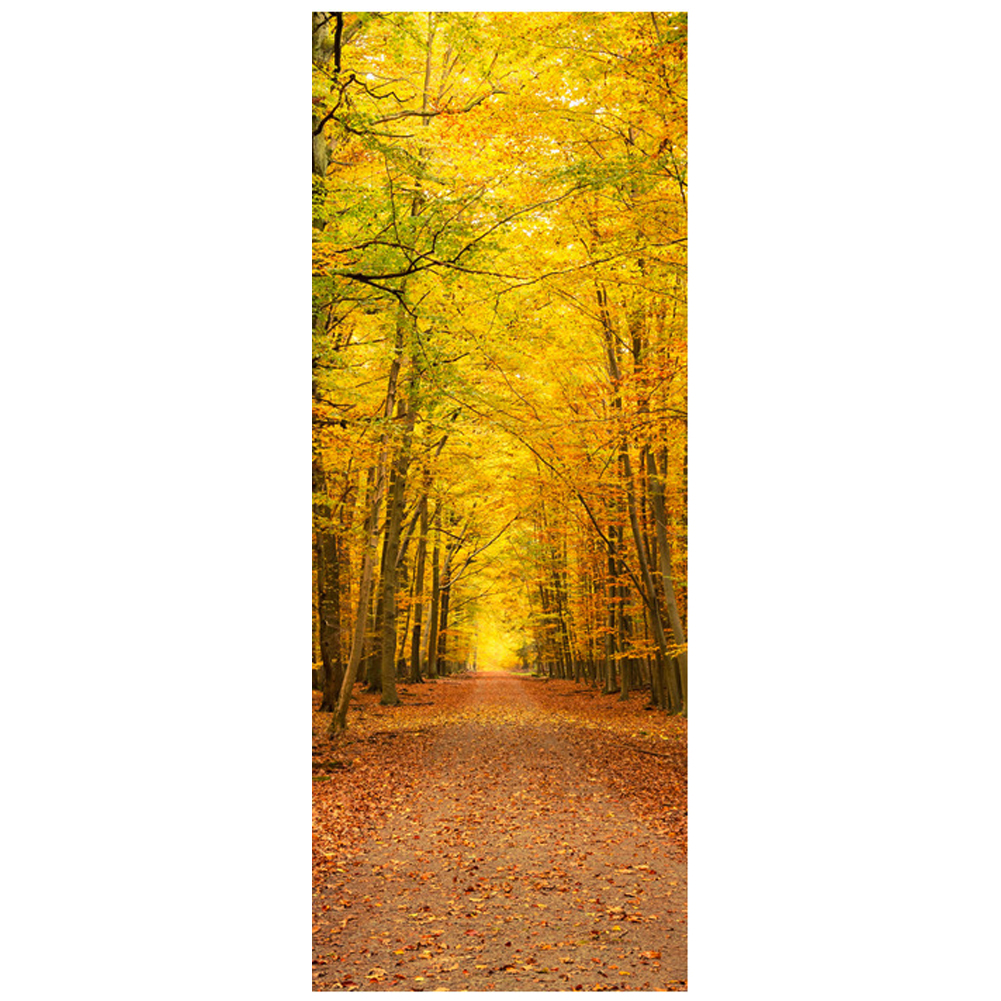 웃 유2Pcs/set Bedroom Door Wall Stickers Forest design Home DIY ...