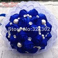 European And American Brides Holding Flowers Wedding Flowers Ornament Pearl Ribbon Wedding Bouquet De Novia Bridal Bouquets YJ11