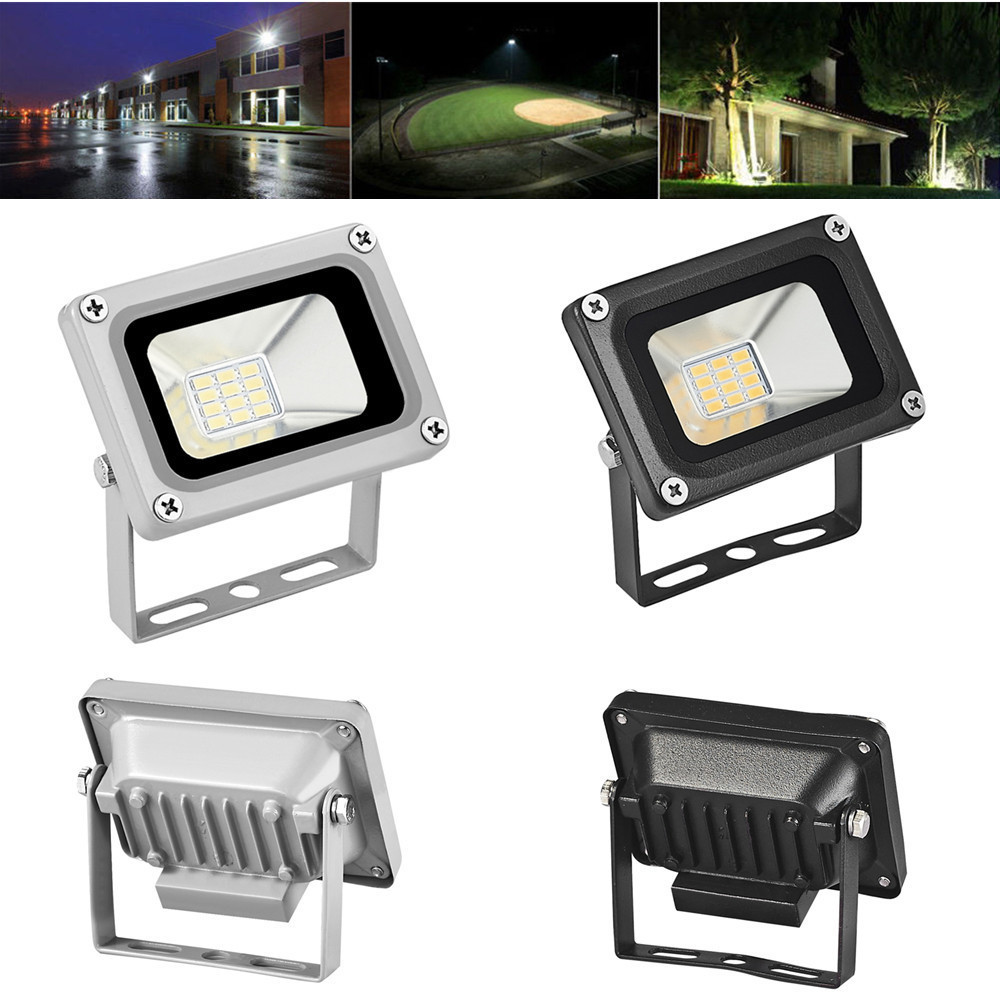 10Pcs Mini LED Flood Light 10W DC 12V-24V 700LM Floodlight For Garden Building Outdoor Wall Billboard LED Flood Lamp Lighting