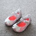 Mini Melissa Campana Zig Zag Dogs Girls Sandals Hollow Jelly Shoes Melissa Kids Sandals Soft Comfort Children Beach Sandals