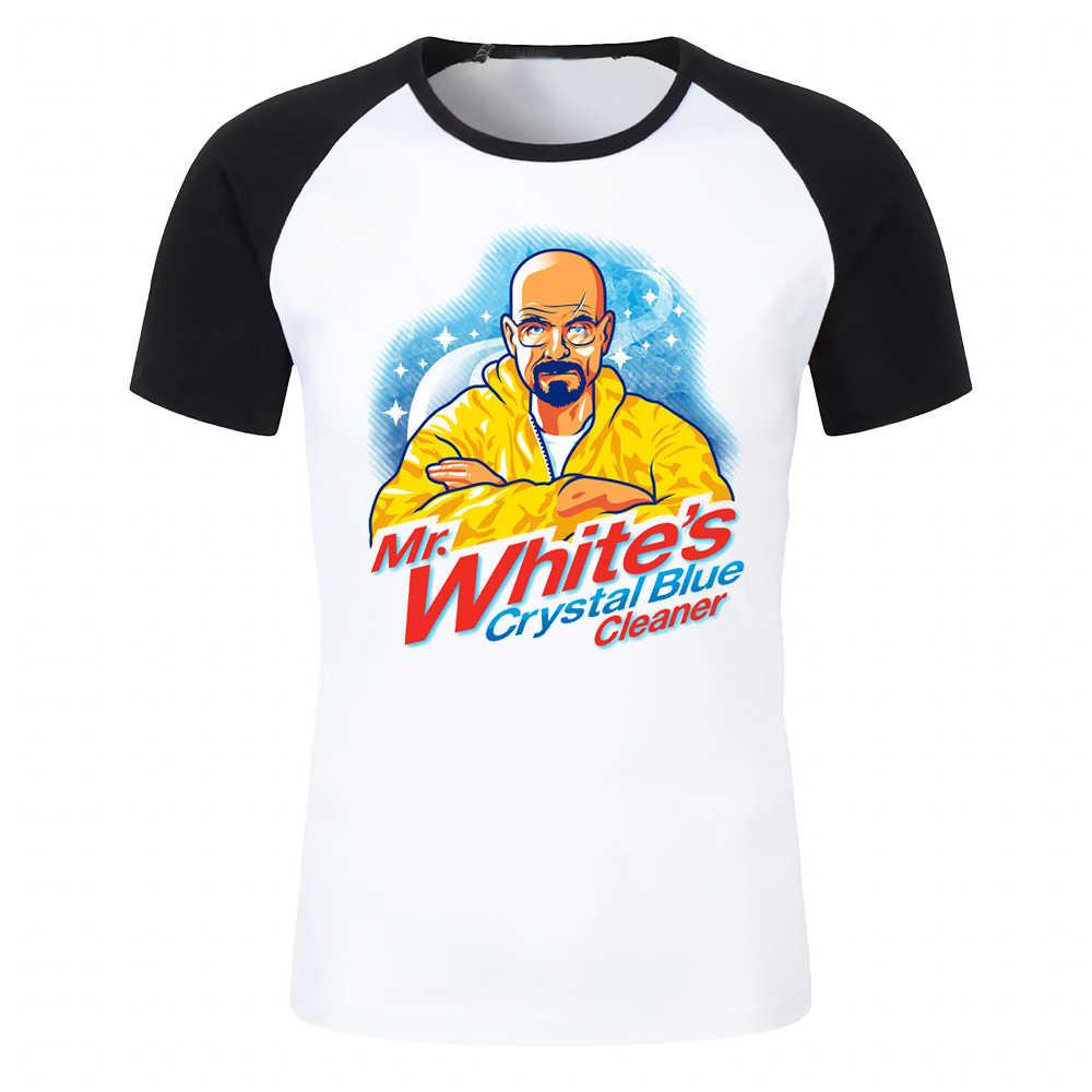 Männer T Shirt Mr Weiß Kristall Blau Heisenberg Breaking Bad Artsy Gedruckt Schwarz Baseball T