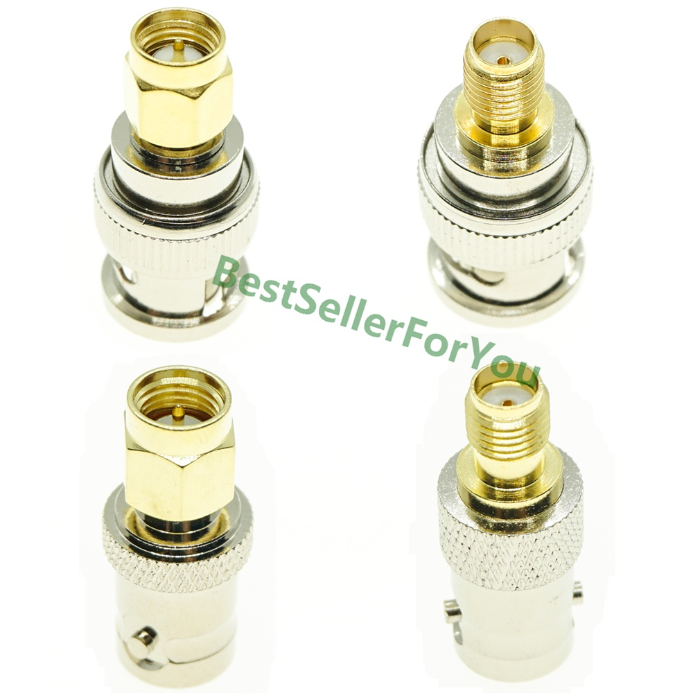 4Pcs Kit Set BNC To SMA Connectors Type Male To Female RF Connector Adapter Test Converter