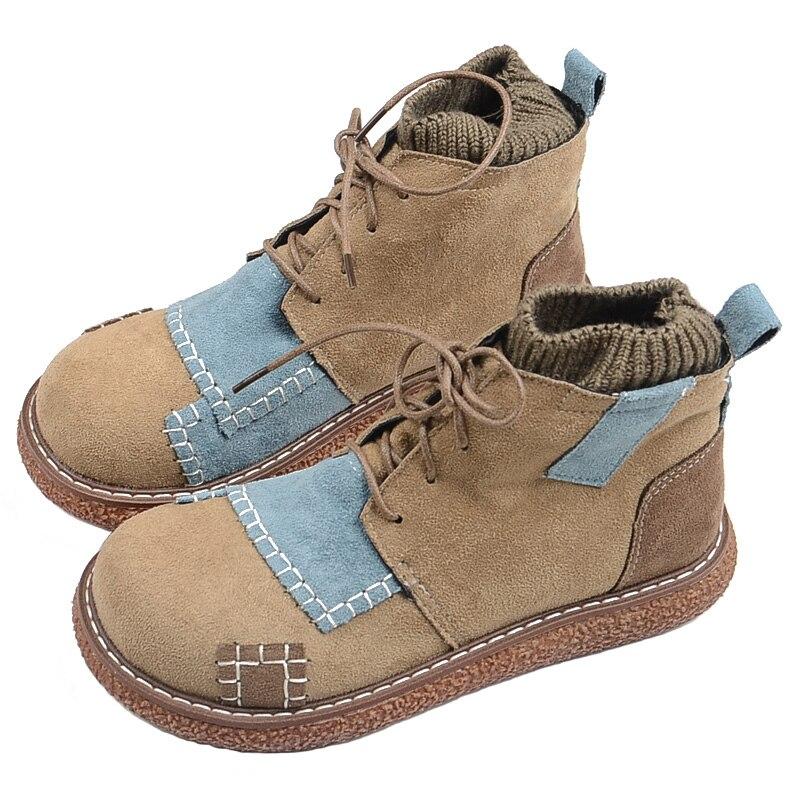 Japonais littéraire bottines courtes fond épais bottes de martin collège vent grosse tête poupée chaussures mori rétro bottines chaud chaussures en coton