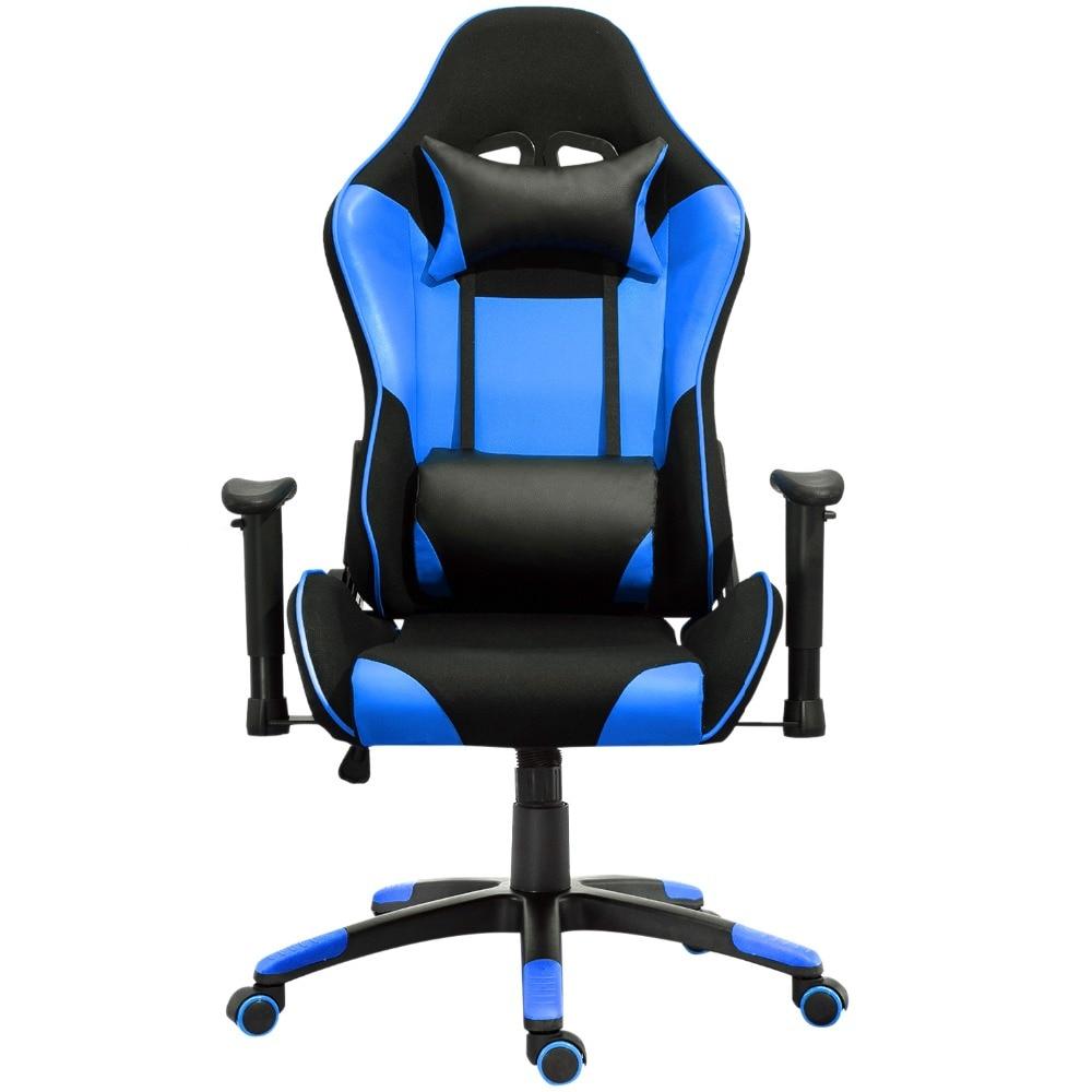 Samincom Ergonomic High-Back Large Gaming Office Chair Blue-Black Backrest:20.8*31.5