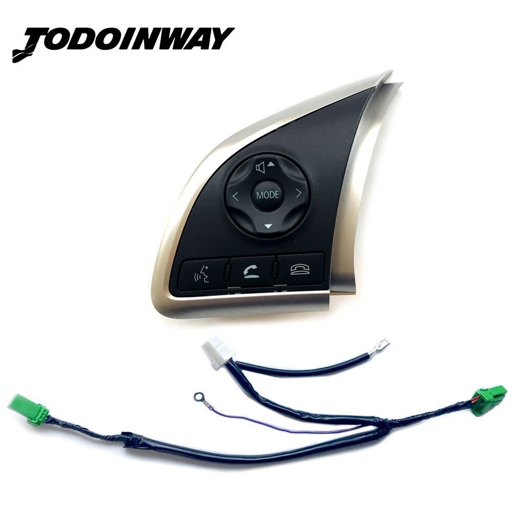 Multifonction Volant Commutateur Audio Volume Bluetooth Régulateur de vitesse Commutateur Bouton Pour Mitsubishi Outlander Mirage
