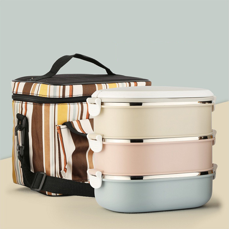 Portable Container For Food Storage Thermal Bento Box Japanese Style For Kids School Picnic Lunch Boxs Insulation Dinner Sets