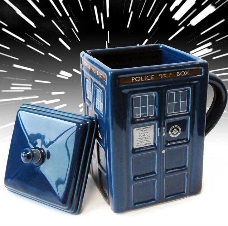 Creative Mug , Best Gift Novelty 1Pcs Doctor Who Figural Tardis Porcelain Mug Coffee Cup Police Box Cup Mug Teapot