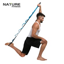 2 м хлопковый пояс для йоги Йога, Пилатес, стрейч ремень с петлями на талии фитнес тренировки Фитнес дома Вес потери слуха