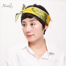100% silk women Square scarf,Material:twill silk, size:52x52,Thickness 12mm  oil painting sun flower Yellow