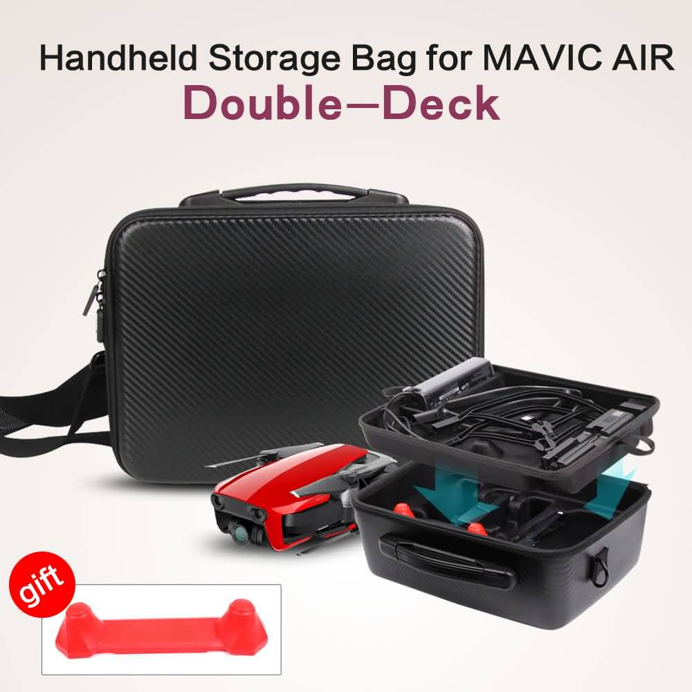 Sunnylife Whole Set of Accessories Storage Bag PU Waterproof Handheld Suitcase Carrying Case Double-Deck Bag for DJI MAVIC AIR top quality suitcase travel transport safety storage case bag for dji spark accessories pgytech portable explosion proof box