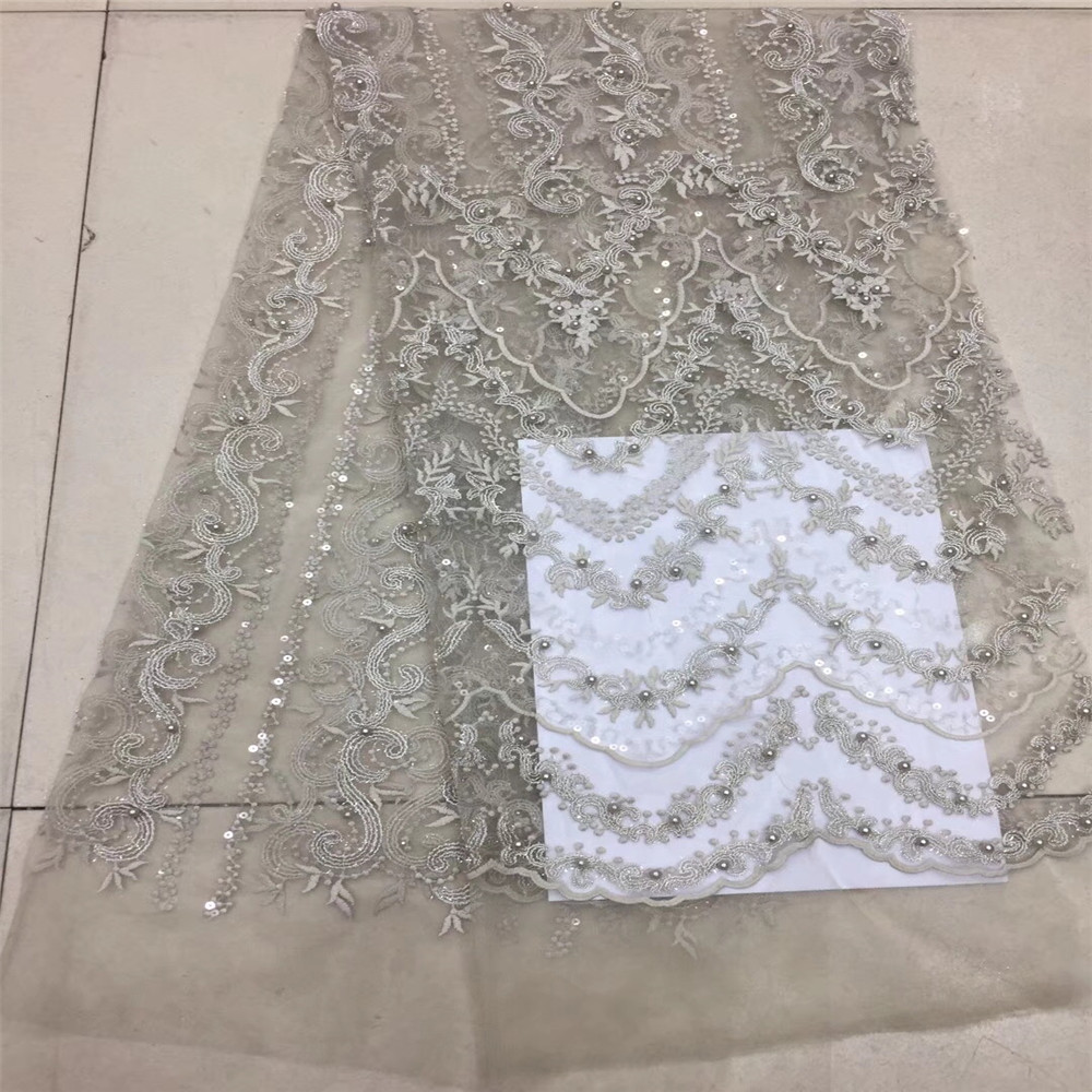 HFX High Quality Nigerian Lace Fabrics With Stones African French Net Lace Fabric Embroidered Tulle Mesh Lace Fabric GF106-2HFX High Quality Nigerian Lace Fabrics With Stones African French Net Lace Fabric Embroidered Tulle Mesh Lace Fabric GF106-2
