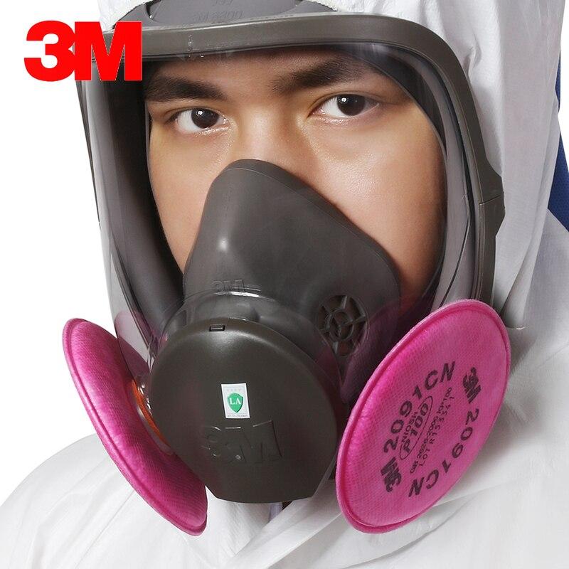3 en 1 3 M 6800 2091 masque à gaz Anti-poussière anti-rayures respirateur protecteur industriel soudure peinture Spray filtre Cool-flow Valve